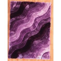 The Conestoga Trading Co. Hand-Tufted Purple Area Rug Rug Size: