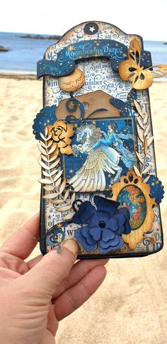 Graphic 45, Mini Albums, Scrapbook Cards, Scrapbooking, Dreamland, Tags Ideas, Beach Cards, Easel Cards, Silhouette Cameo Projects