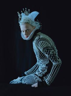 Dame of Thrones - tim walker shoots kristen mcmenamy in medieval fashion