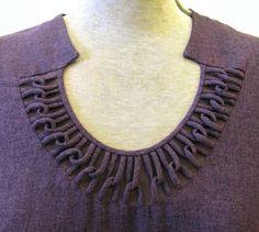Incredible chain neckline detailing