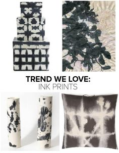 Right now, inky black prints are showing up on everything from ceramics to storage boxes—lending a moody, subtly edgy vibe to your spaces. Clockwise from top left: Batik Boxes by Tinek Home: Storag...