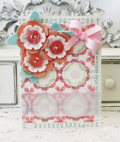 Birthday Blooms Card by Melissa Phillips for Papertrey Ink (December 2012)