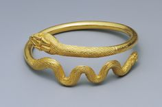 Snake Bracelet; Unknown; Egypt; 1st century; Gold; 7.3 cm, 0.113 kg (2 7/8 in., 0.2491 lb.); 96.AM.205; Gift of Barbara and Lawrence Fleischman; Image: Bruce White Photography