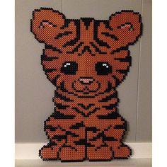 Tiger hama beads by _camillalind - Pattern: https://de.pinterest.com/pin/374291419013031036/
