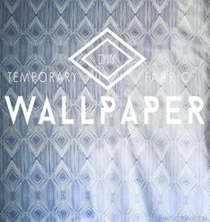 Turn any fabric into wallpaper by attaching it with a solution of fabric starch or cornstarch and water. | 29 Wall Decoration Ideas That Only Look Expensive