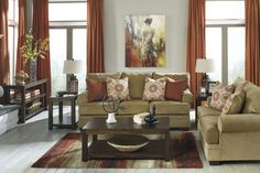Sevan - Sand - Sofa & Loveseat | 96802/38/35 | Living Room Groups | Kronheims Furniture Cleveland Ohio