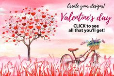 Ad: Valentine day Watercolor templates by Art Loft on All elements are transparent Open template.psd Chose elements that you like Create your design There are 2 type of files: - 25 Watercolor Logo, Watercolor Drawing, Watercolor Design, Watercolor Cards, Watercolor Flowers, Christmas Poster, Christmas Art, Business Illustration, Graphic Illustration