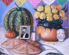 Título: Día de Muertos. Autor : Edmundo Alvarez. Impresiones en canvas firmadas por el autor y numeradas. Medidas:  Pregunta por el precio.