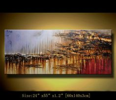 Original Abstract Painting Modern Landscape by xiangwuchen on Etsy, $248.00