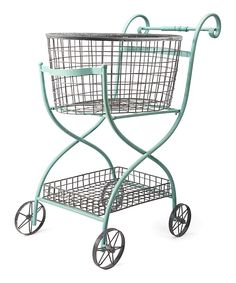 I have always wanted a vintage cart at my house!  Toulouse Shopping Cart