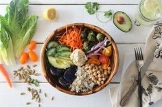 Nourish Bowl is a nutrient dense macrobiotic bowl consisting of protein, healthy fats, and carbohydrates for the perfect meal in a bowl.