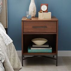 City Storage Nightstand - Walnut #westelm