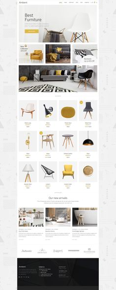 Make your interior design, decoration, or architecture website today with a help of Ambient WordPress theme. Interior Design Themes, Modern Interior Design, Web Design, Layout Design, Beautiful Interiors, Furniture Collection, Wordpress Theme, Cool Furniture, Home Improvement