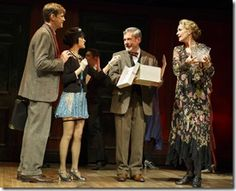 "Lee Aaron Rosen, Andrea Goss, Mark Nelson and Shannon Cochran star in Roundabout Theatre's ""Cabaret"" by Kander and Ebb, directed by Sam Mendes and Rob Marshall. (photo credit: Joan Marcus)"