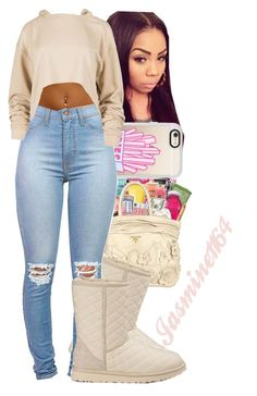 """Dreezy~Body"" by jasmine1164 ❤ liked on Polyvore featuring Casetify and UGG Australia"