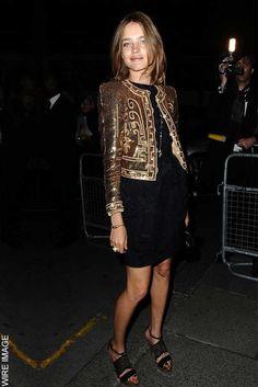 beautiful metallic jacket - - - Natalia Vodianova