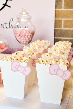 Pastel Rosa Kitty Partido Olá {Idéias, decoração, Planejamento}