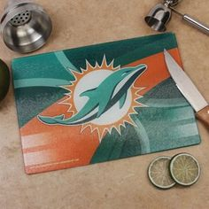 Miami Dolphins 8'' x 11.75'' Carbon Fiber Cutting Board