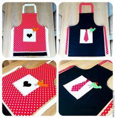 Купить Фартуки- набор для двоих - фартук, фартук для кухни, фартук ручной работы, текстиль для кухни