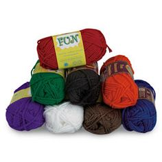 Lion Brand® Fun Yarn — Set of 8. Available in a palette of bright, classic colors, this medium-weight yarn is ideal for all knit, craft, and crochet projects. 100% acrylic.