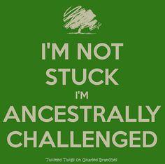 Genealogy - Ancestrally challenged www.perpatuatree.com #genealogy