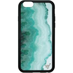 Teal Beach iPhone 6/6s Case ($35) ❤ liked on Polyvore featuring accessories, tech accessories and phone cases