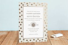 Devoted Foil-Pressed Wedding Invitations by Oscar & Emma at minted.com