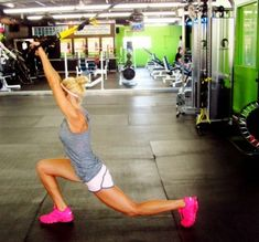 Front Lunge with Overhead Reach - alternating