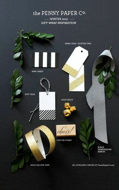 #Christmas gift wrapping ideas DIY crafts ToniK ⓦⓡⓐⓟ ⓘⓣ ⓤⓟ gift tags