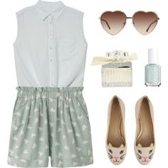 Summer has arrived. by ahdorable on Polyvore... Um, the shoes.