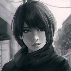 drawing, girl, short hair - image #2924751 by WoOndergirL on Favim.com