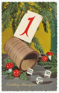 Postcards - Greetings & Congrads #  567 - Happy New Year - Roll of the Dice