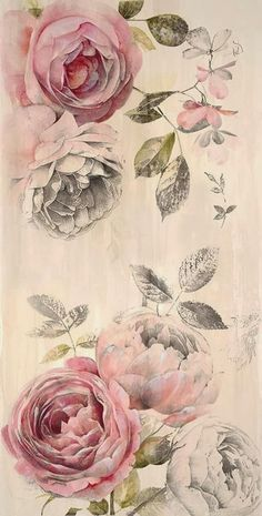 New Flowers Peonies Tattoo Floral Ideas Images Vintage, Vintage Diy, Vintage Paper, Vintage Flowers, Vintage Floral, Peonies Tattoo, Tattoo Flowers, Tattoo Floral, Flower Tat