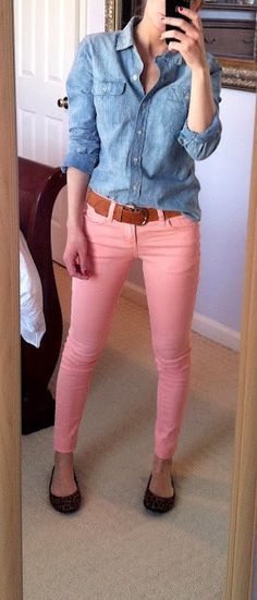 Same exact thing I wore today but with a polka dot denim top and leopard Vans <3