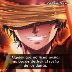 Alguien que no tiene sueños #ShuOumaGcrow #Anime #Frases_anime #frases