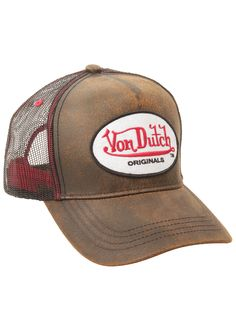 Channel your inner rock star in this throwback trucker-style hat by Von  Dutch. 794c71217a8