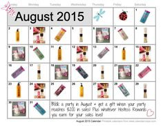Host a Party in August and get a free gift from Me! (Not available through Pink Zebra or Other Independent Consultants)