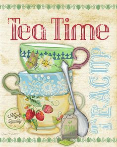Tea Time-jp2570 by Jean Plout - Tea Time-jp2570 Digital Art - Tea Time-jp2570 Fine Art Prints and Posters for Sale