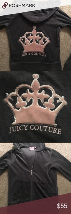 Selling this Juicy Couture Crown Velour Jacket on Poshmark! My username is: sarahmarie421. #shopmycloset #poshmark #fashion #shopping #style #forsale #Juicy Couture #Jackets & Blazers