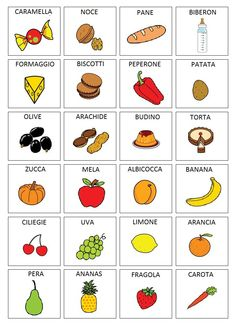 Matrix Categories By Therapics Italian Grammar, Italian Vocabulary, Italian Words, Italian Language, Educational Games For Kids, Activities For Kids, Italian Alphabet, Italy For Kids, Token Economy
