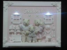 Porta Maternidade Família Ursa - Betsy   Berço, Decoração e Enxoval de Bebê