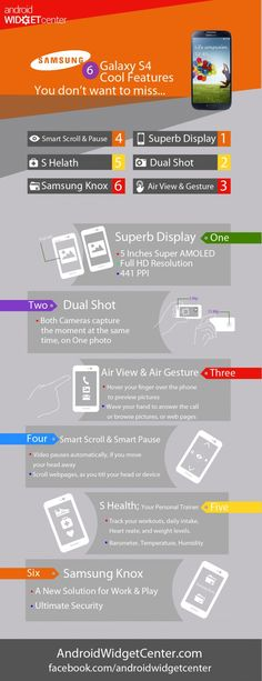 Infographic: Galaxy S4 Cool Features
