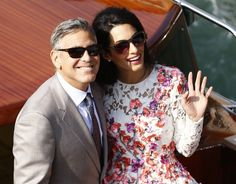 She met Hollywood actor George Clooney at a charity fundraising in Italy in 2013.