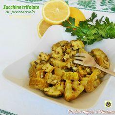 Zucchine+trifolate+al+prezzemolo+e+limone