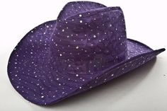 Sparkle Glitter Western / Purple / Red Hat Lady Society Florida Hat Company. $15.99