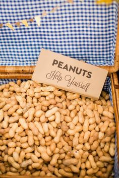 Peanut bar for reception