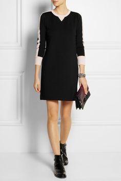 black and blush jersey dress