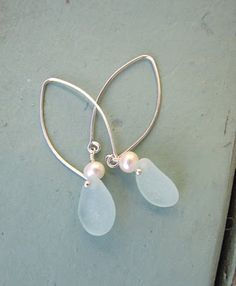 beach glass earings