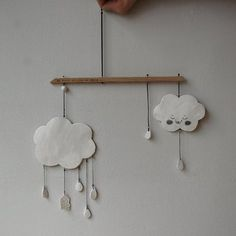 Hanging clouds.