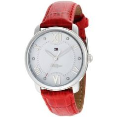 $56.27 Tommy Hilfiger Women's 1781016 Classic Red Croco Embossed Leather Watch